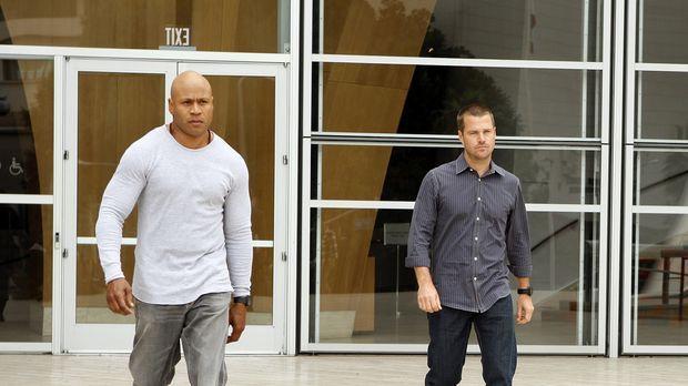 Arbeiten an einem neuen Fall: Special Agent G. Callen (Chris O'Donnell, r.) u...