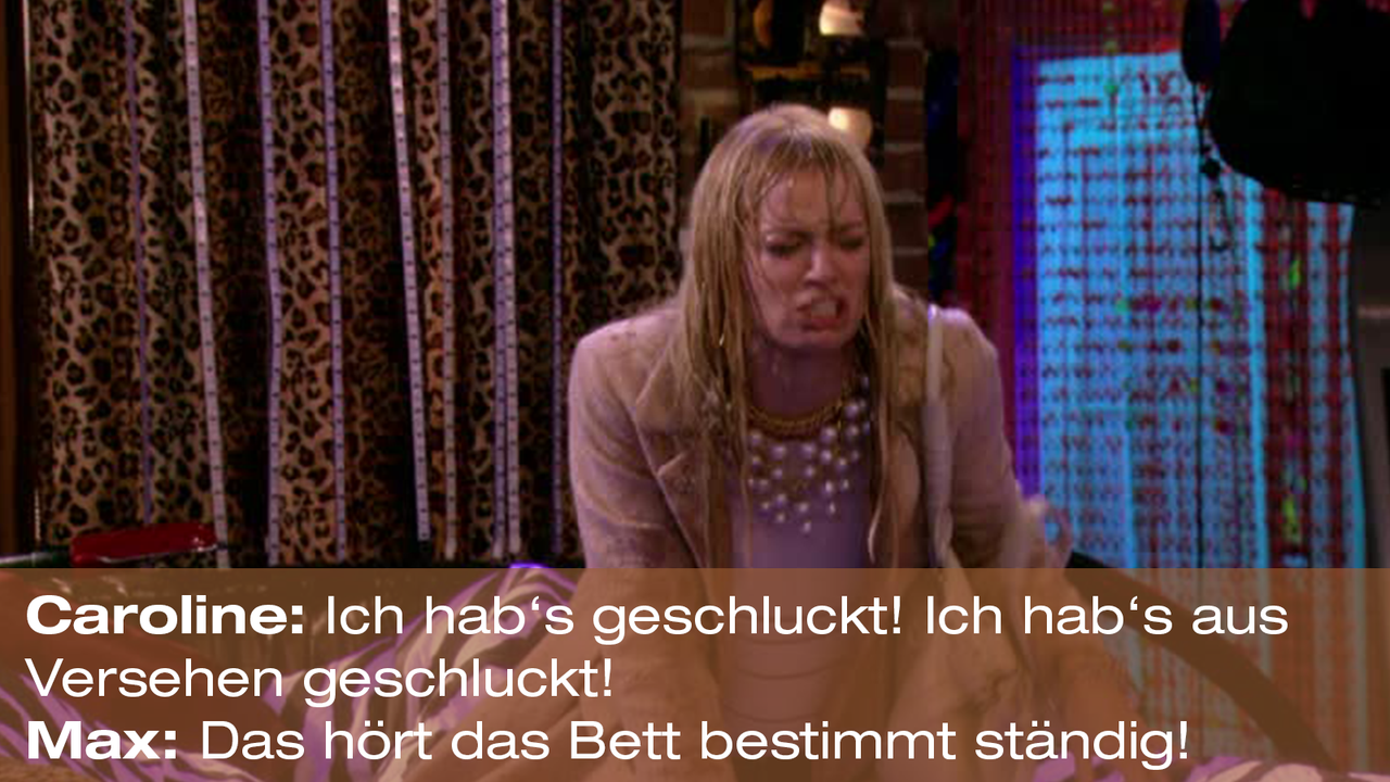 2-Broke-Girls-Zitat-Quote-Staffel2-Episode20-Das-Loch-in-der-Decke-Max-Bett2-Warner - Bildquelle: Warner Bros. Television