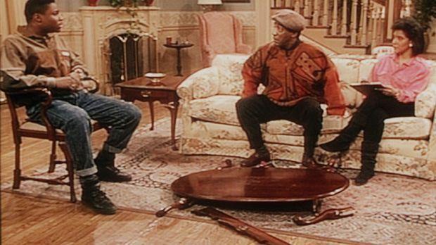 Was kann Theo (Malcolm-Jamal Warner, l.) dafür, dass seine Freunde auf dem Ti...