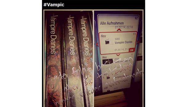 VamPic: Vampire Diaries aufnehmen und auf DVD haben - Bildquelle: Instagram/wendystorm2709