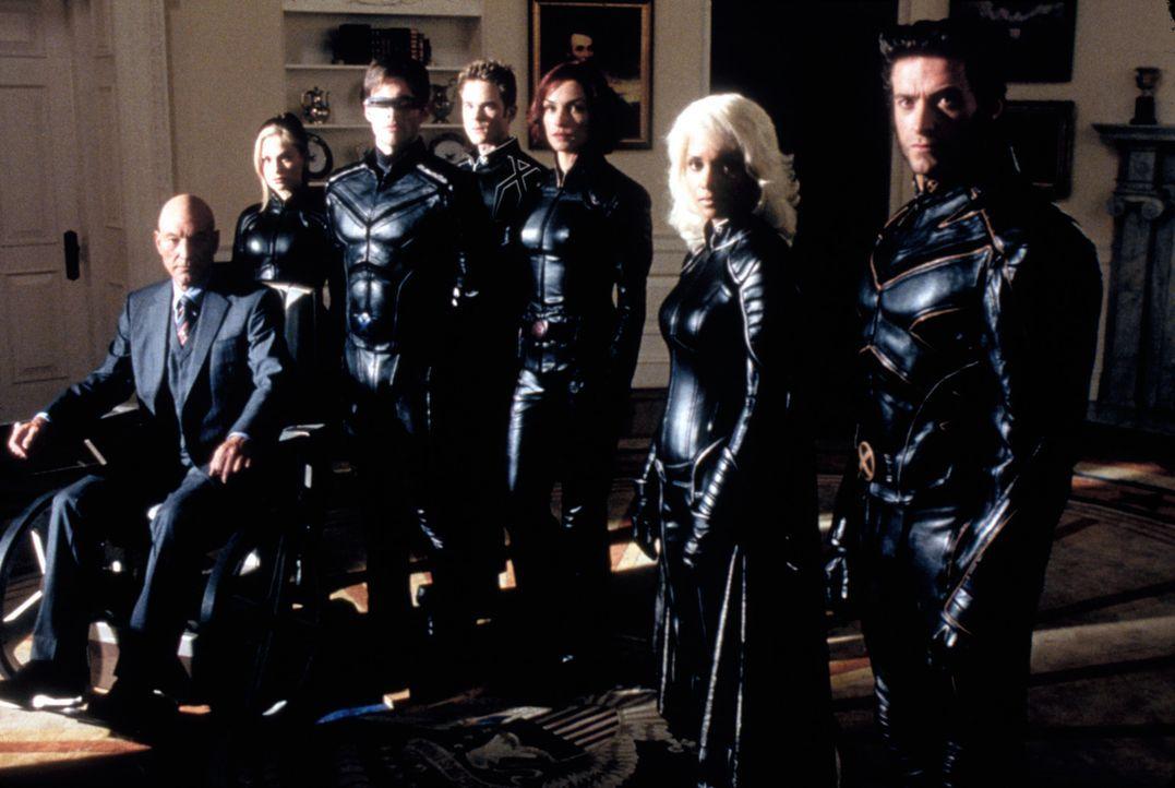 Versuchen, die Welt vor Stryker zu retten: Professor X (Patrick Stewart), Rogue (Anna Paquin), Cyclops (James Marsden), Iceman (Shawn Ashmore), Phoe... - Bildquelle: 20th Century Fox International Television