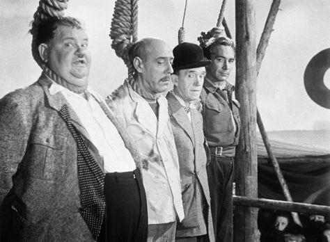 Dick und Doof erben eine Insel - Die Landratten Ollie (Oliver Hardy, l.) und...