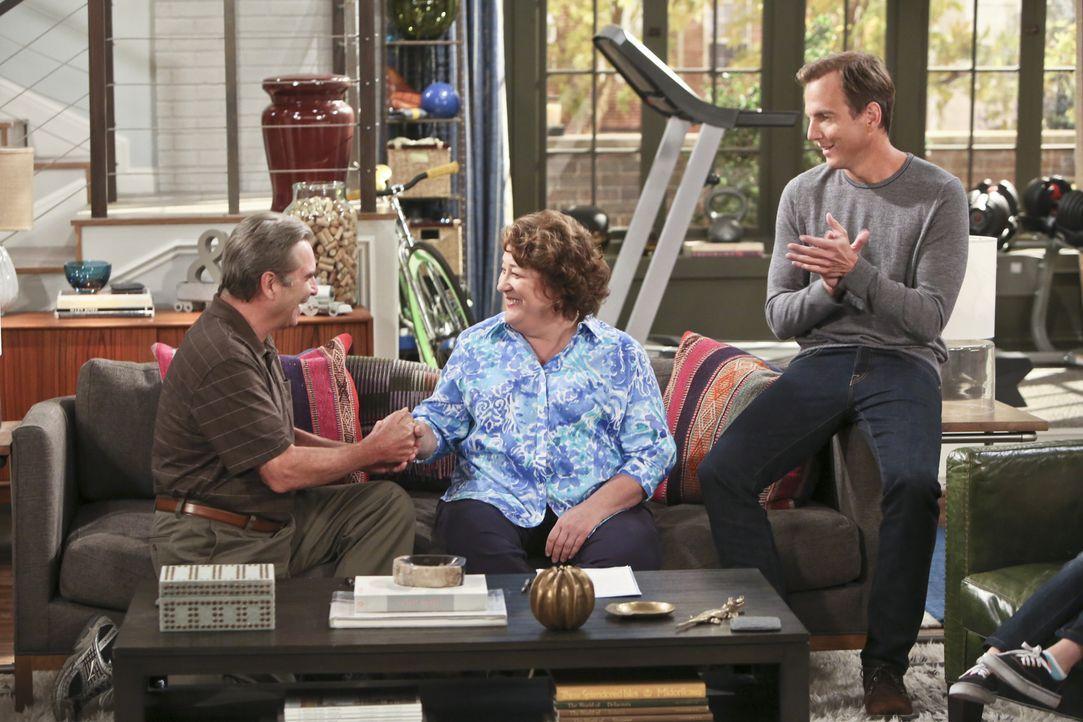 Zur Freude von Nathan (Will Arnett, r.) und Debbie lassen sich Tom (Beau Bridges, l.) und Carol (Margo Martindale, M.) scheiden ... - Bildquelle: 2014 CBS Broadcasting, Inc. All Rights Reserved.