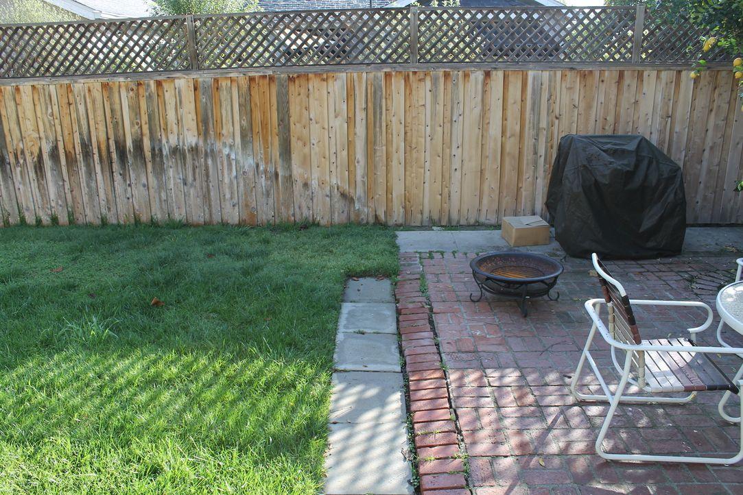 Omid und Ali lieben ihre mit Bäumen gesäumte Nachbarschaft, doch ihr eigener Garten lässt sehr zu wünschen übrig ... - Bildquelle: 2014, DIY Network/Scripps Networks, LLC. All Rights Reserved.