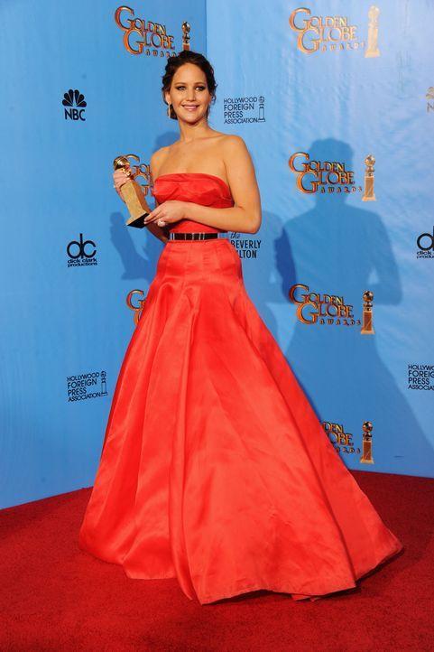 Jennifer Lawrence bei den Golden Globes 2013 - Bildquelle: AFP