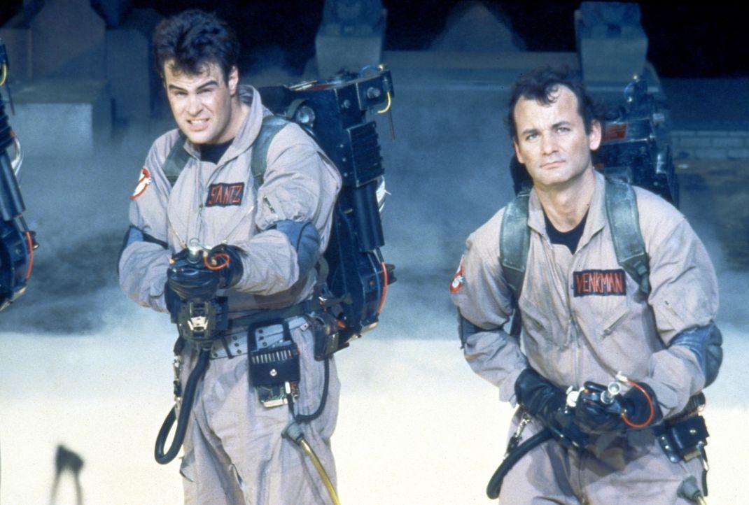 Ausgerechnet in New York entdecken die Ghostbusters Dr. Stanz (Dan Aykroyd, l.) und Dr. Venkman (Bill Murray, r.) das Tor zu einer anderen Dimension... - Bildquelle: Columbia Pictures