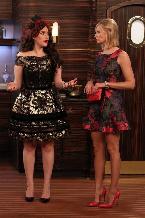 Auf diese Hochzeit würden Max (Kat Dennings, l.) und Caroline (Beth Behrs, r.) lieber nicht gehen: Carolines Ex Andy wagt den Schritt vor den Altar,... - Bildquelle: Warner Brothers