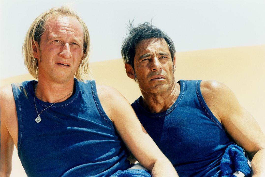 Auf der Jagd nach einem Millionen schweren Lottoschein: Moltès (Gérard Lanvin, r.) und Francis Reggio (Benoît Poelvoorde, l.) ... - Bildquelle: Starmedia Home Entertainment