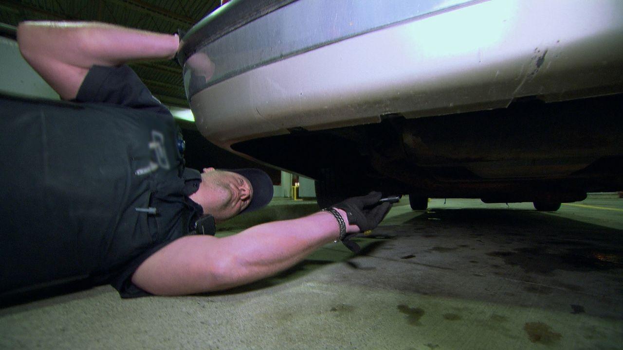Unglaublich, was Zollbeamte in Autos und vor allem wo genau im Auto alles finden ... - Bildquelle: Force Four Entertainment / BST Media 2 Inc.