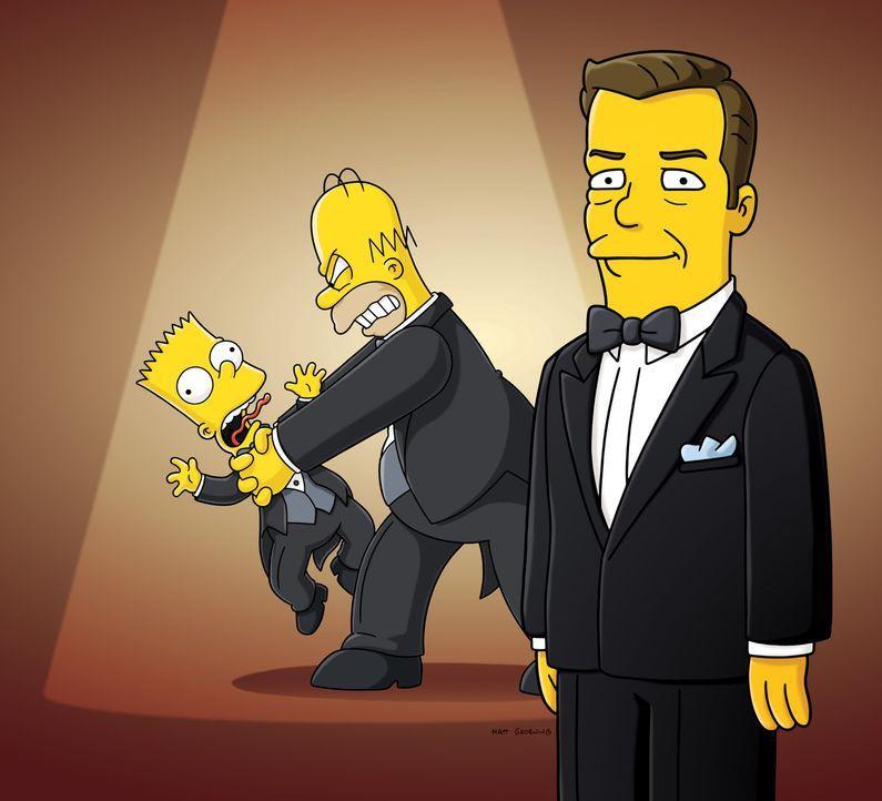 Bart produziert mit Hilfe von Homer den Kurzfilm Angry Dad, basierend auf seinem gleichnamigen Cartoon von früher. Dieser Film gewinnt daraufhin za... - Bildquelle: und TM Twentieth Century Fox Film Corporation - Alle Rechte vorbehalten