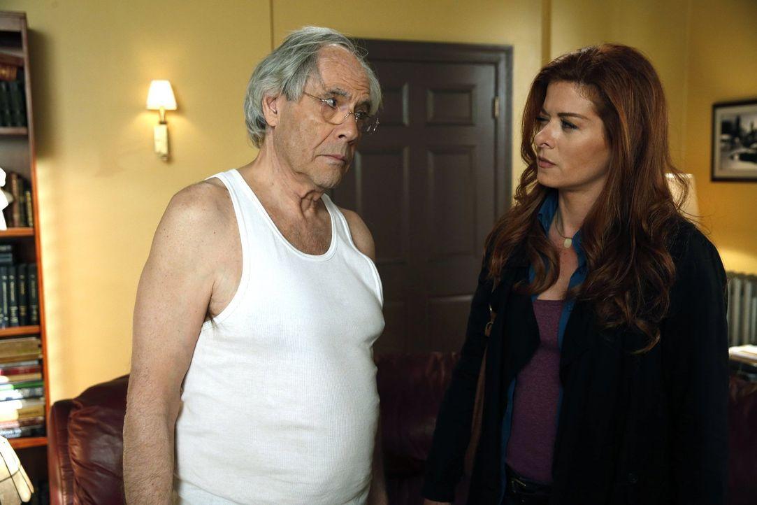 Um einen neuen Fall zu lösen, braucht Laura (Debra Messing, r.) Hilfe von ihrem Vater Leo (Robert Klein, l.). Doch wird er bereit sein, ihr zu helfe... - Bildquelle: Warner Bros. Entertainment, Inc.