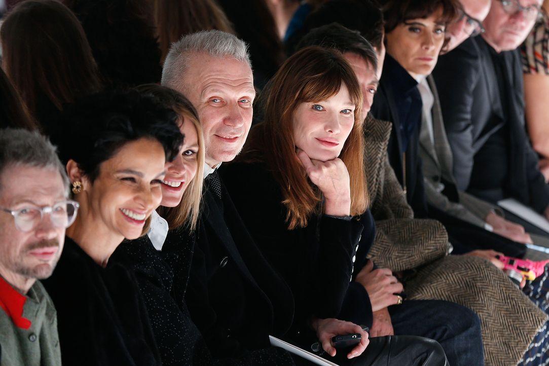 Paris-FW-Carla-Bruni-Sarkozy-Jean-Paul-Gaultier-14-01-20-AFP - Bildquelle: AFP