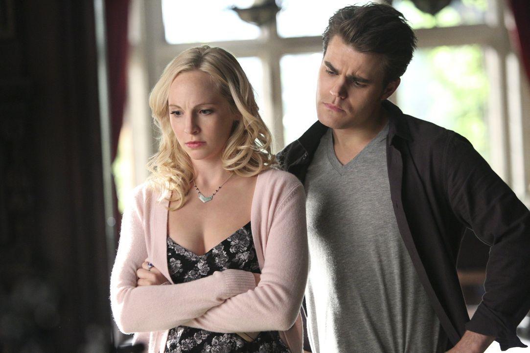 Stefan behält Caroline im Auge - Bildquelle: Warner Bros. Entertainment Inc.