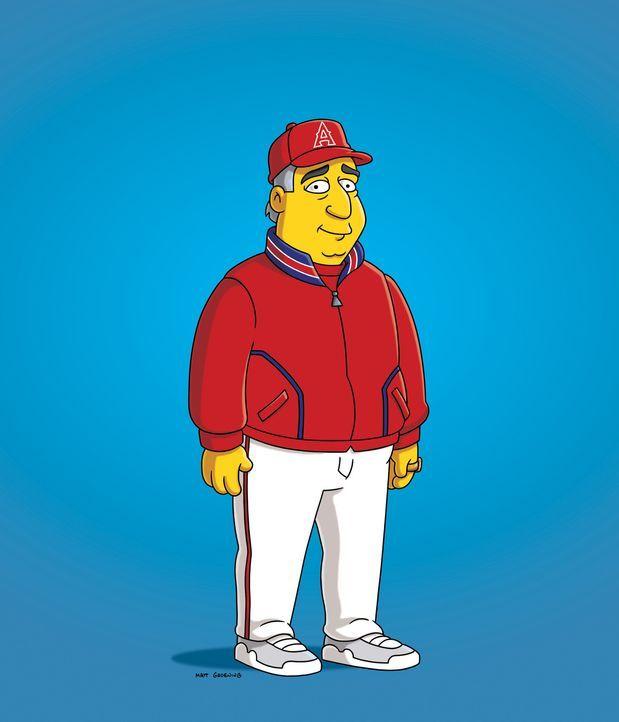 Der erfolgreiche Baseballtrainer Mike Scioscia greift Lisa, die Trainerin von Barts Baseballteam wird, unter die Arme. - Bildquelle: und TM Twentieth Century Fox Film Corporation - Alle Rechte vorbehalten