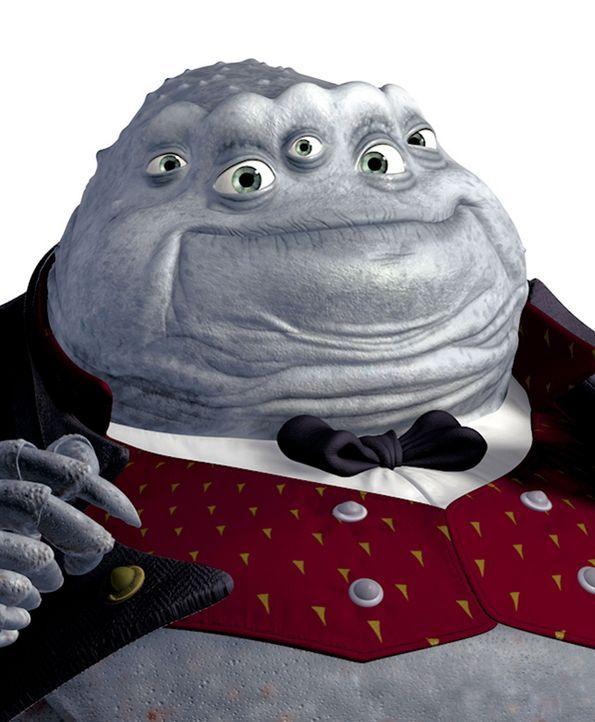 Ein großes, krabbenartiges Monster mit vielen Augen  - das ist Henry J. Waternoose, Direktor der Monster AG. Er leitet das Familienunternehmen bere... - Bildquelle: Buena Vista Pictures