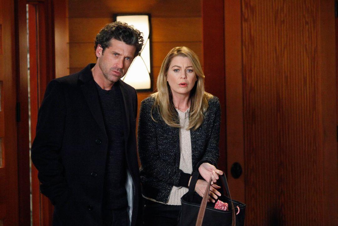 Sind überrascht, als sie Amelia völlig verstört vorfinden: Derek (Patrick Dempsey, l.) und Meredith (Ellen Pompeo, r.) ... - Bildquelle: ABC Studios
