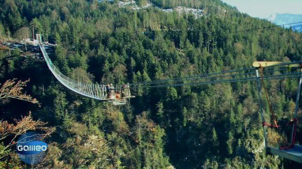 Die längste Hängebrücke Europas