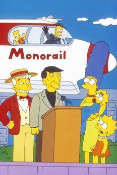 Die Simpsons - Die  Einschienenbahn wird von Mr. Lanley (l.) und Leonard Nimo...