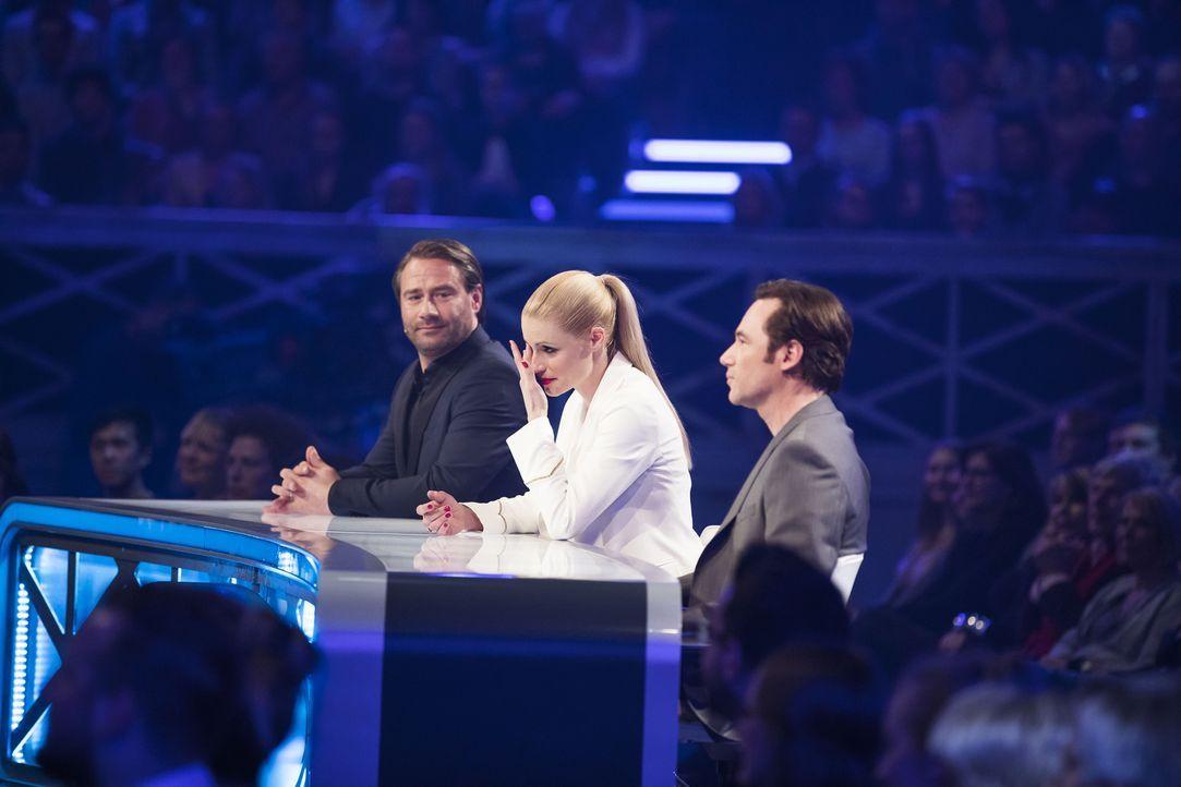 Sind gespannt auf die Talente: (v.l.n.r.) Sasha, Michelle Hunziker, Michael Bully Herbig ... - Bildquelle: Benedikt Müller SAT.1