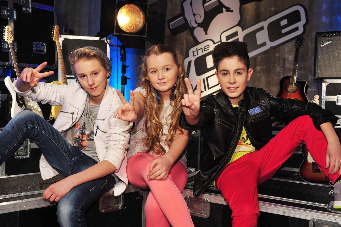 The-Voice-Kids-Stf02-Epi07-Vanessa-Joel-Leif-15-SAT1-Andre-Kowalski - Bildquelle: SAT.1/Andre Kowalski