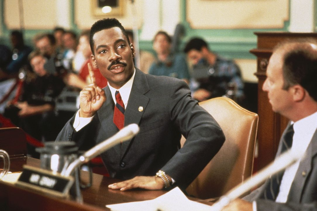 Ab und zu beteiligt sich Thomas Jefferson Johnson (Eddie Murphy, l.) an den politischen Entscheidungen, auch wenn er keinen blassen Schimmer hat, wo... - Bildquelle: Buena Vista Pictures
