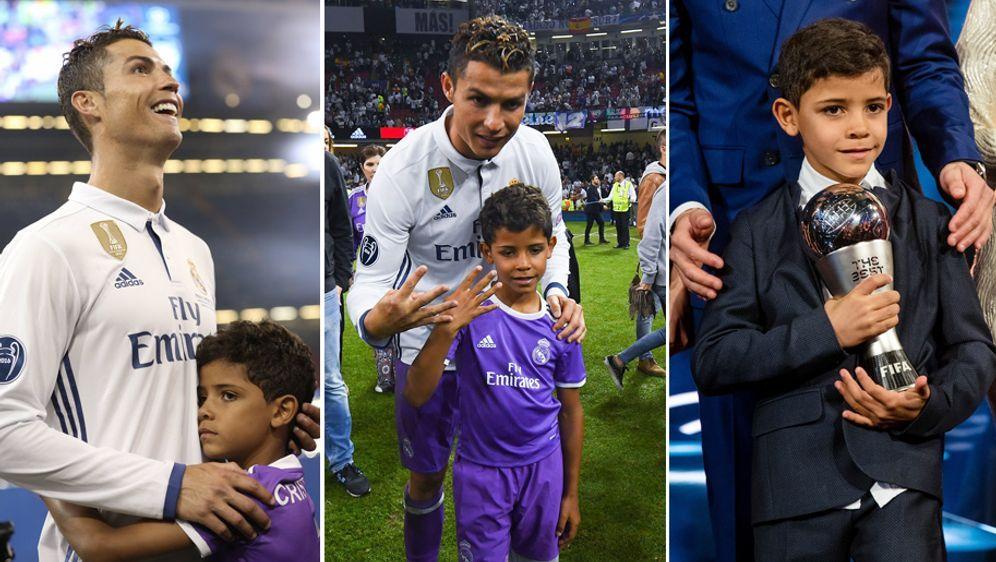 Cristiano Ronaldo jr., der Sohn von Cristiano Ronaldo, ist immer wieder im S... - Bildquelle: getty / imago