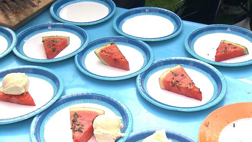 Robertos Menü: Gegrillte Wassermelone mit Vanille-Eis