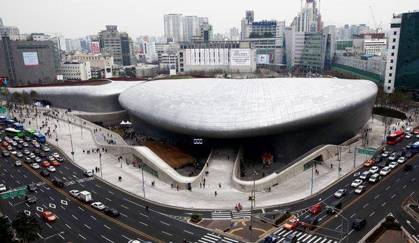 Dongdaemun Design Plaza in Seoul - Bildquelle: dpa