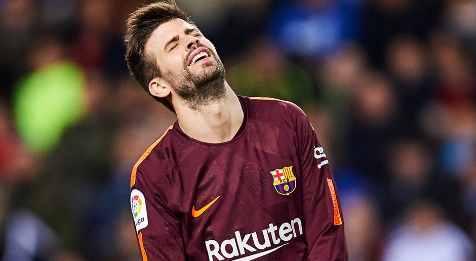 Abwehr: Gerard Pique - Bildquelle: 2018 Getty Images