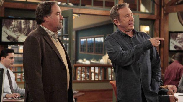 Mike (Tim Allen, r.) muss dem langjährigen Architekten von Outdoor Man, Bill...