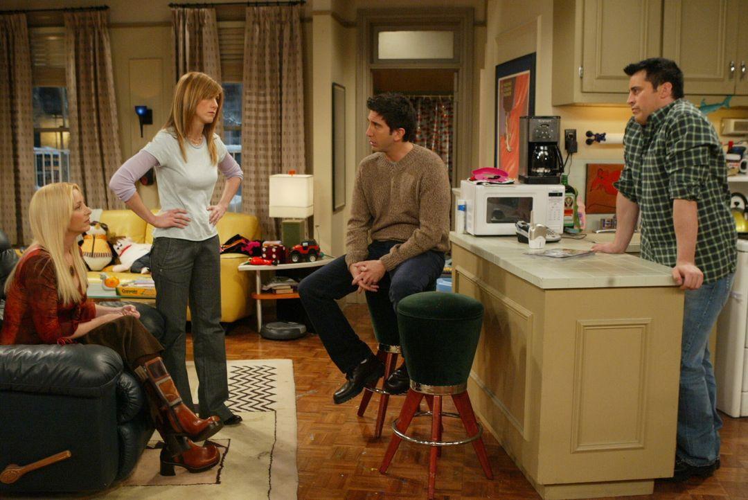 Nur gut das man Freunde hat: Phoebe (Lisa Kudrow, l.), Rachel (Jennifer Aniston, 2.v.l.), Joey (Matt LeBlanc, r.) und Ross (David Schwimmer, 2.v.r.)... - Bildquelle: 2003 Warner Brothers International Television