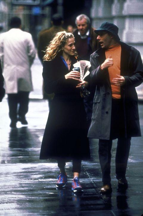 Mit Carries (Sarah Jessica Parker, l.) Lieblingsfreund Stanford (Willie Garson, r.) bespricht sie die wichtigsten Dinge des Lebens. - Bildquelle: 2001 Paramount Pictures
