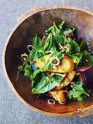 Spinatsalat mit Speck