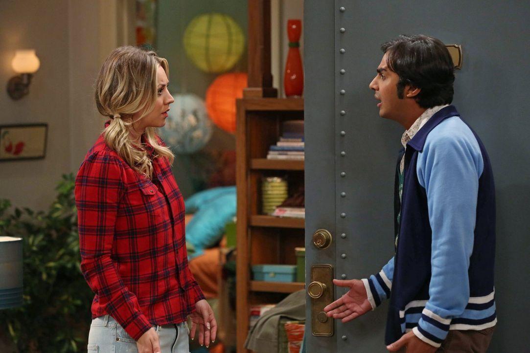 Während Leonard von Sheldon bestraft wird, wäscht Penny (Kaley Cuoco, l.) Rajs (Kunal Nayyar, r.) Ex-Flamme den Kopf und löst damit eine verhängnisv... - Bildquelle: Warner Brothers Entertainment Inc.