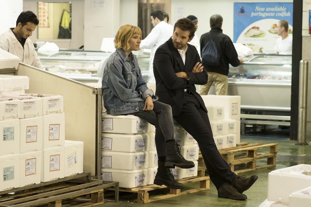 Helene (Sienna Miller, l.) kann Adam (Bradley Cooper, r.) nicht ausstehen, weil er mit seiner Besessenheit für ein perfektes Menü seine Mitarbeiter... - Bildquelle: Alex Bailey 2014 The Weinstein Company. All rights reserved.