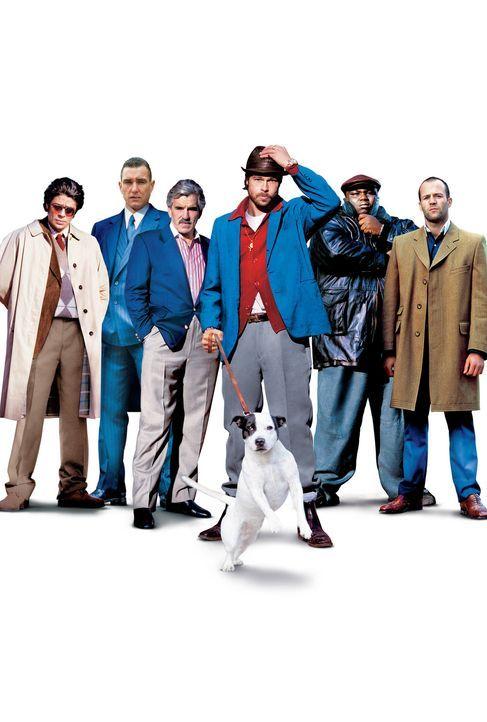 Snatch - Schweine und Diamanten: (v.l.n.r.) Franky Four Fingers (Benicio Del Toro), Bullet Tooth Tony (Vinnie Jones), Avi (Dennis Farina), Mickey (B... - Bildquelle: 2003 Sony Pictures Television International. All Rights Reserved.