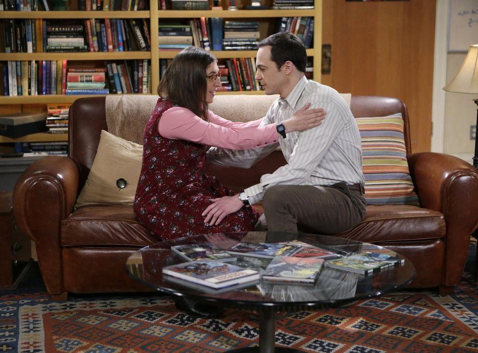 Der Mangel an Wichtigkeit, die Sheldon (Jim Parsons, r.) der Beziehung zu Amy (Mayim Bialik, l.) zukommen lässt, irritiert sie zunehmend ... - Bildquelle: Warner Bros. Television