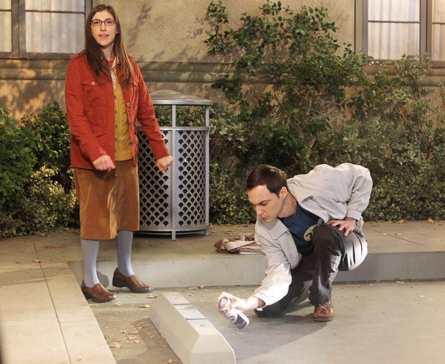 Als die Universität Sheldons (Jim Parsons, r.) Parkplatz an Howard vergibt, beginnt ein Streit, der sich auf die ganze Clique auswirkt, denn auch Am... - Bildquelle: Warner Bros. Television