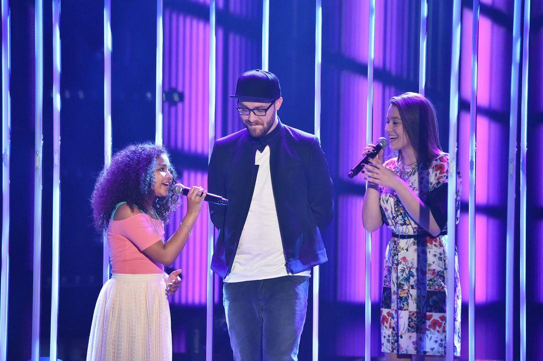 The-Voice-Kids-Stf03-Finale-Probe-15-Zoe-Antonia-SAT1-Andre-Kowalski - Bildquelle: SAT.1/ Andre Kowalski