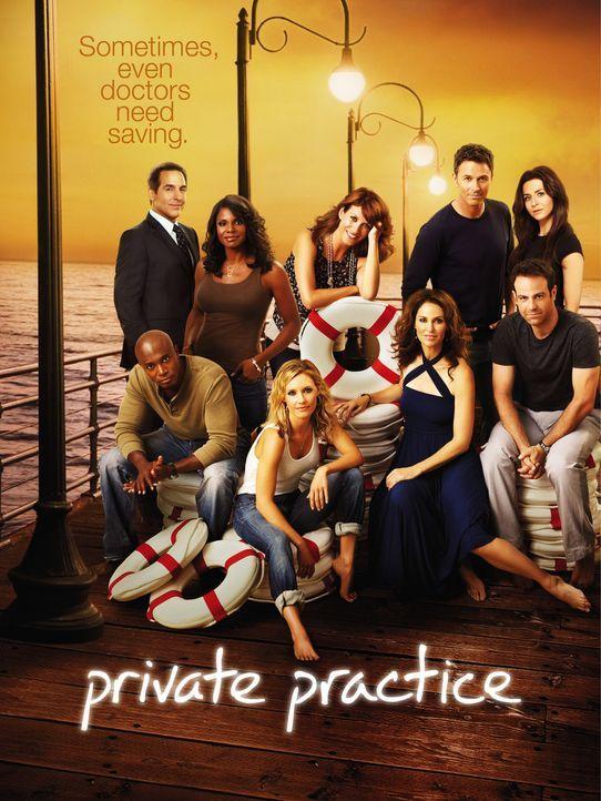 (4. Staffel) - Private Practice: (hinten v.l.n.r.) Dr. Sheldon Wallace (Brian Benben), Dr. Naomi Bennett (Audra McDonald), Dr. Addison Forbes Montgo... - Bildquelle: ABC Studios