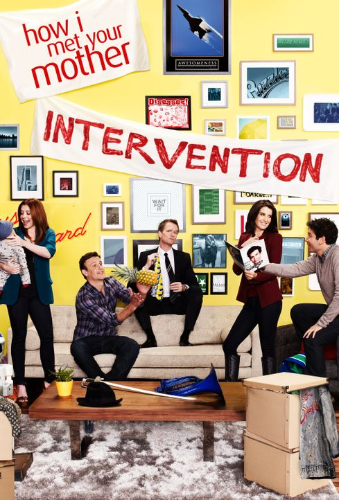 (8. Staffel) - how i met your mother: Ted (Josh Radnor, r.), Marshall (Jason Segel, 2.v.l.), Barney (Neil Patrick Harris, M.), Lily (Alyson Hannigan... - Bildquelle: 2012-2013 Twentieth Century Fox Film Corporation. All rights reserved.