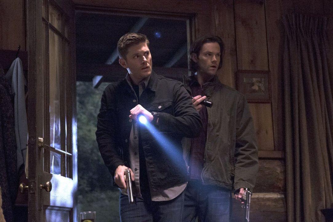 Eine Reihe von Werwolfangriffen führt Dean (Jensen Ackles, l.) und Sam (Jared Padalecki, r.) zu einer alten Bekannten, aber hat sie wirklich etwas m... - Bildquelle: 2016 Warner Brothers