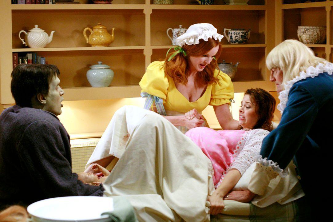 Es ist soweit - Danielle (Joy Lauren, 2.v.r.) bekommt ihr Baby. Bree (Marcia Cross, 2.v.l.), Orson (Kyle MacLachlan, r.) und Adam (Nathan Fillion, l... - Bildquelle: ABC Studios