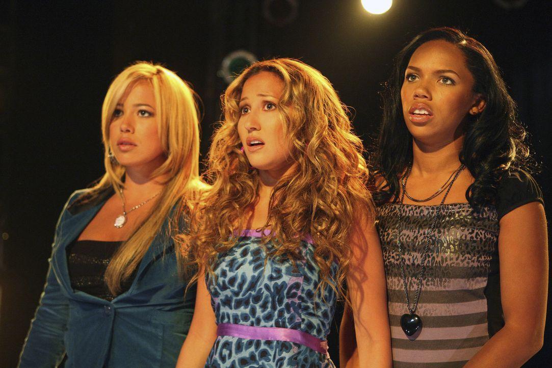 Haben zunächst keinerlei Erfolg: Dorinda (Sabrina Bryan, l.), Chanel (Adrienne Bailon, M.) und Aqua (Kiely Williams, r.) ... - Bildquelle: Disney - ABC - ESPN Television