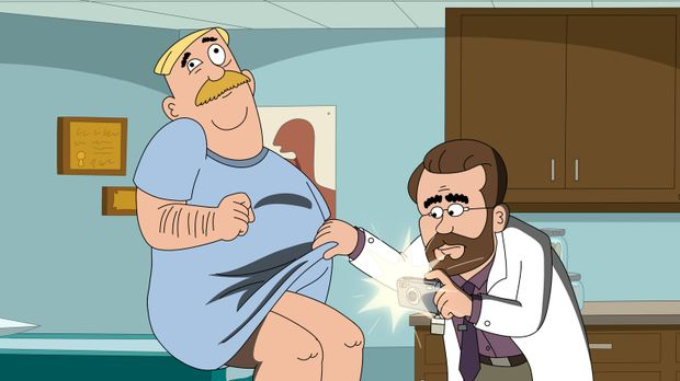 Woody (l.) hat aus Ärger über seine Mitarbeiter einen leichten Schlaganfall e...