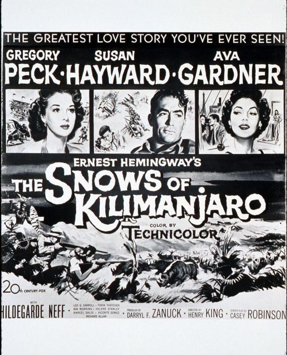 Schnee am Kilimandscharo - Plakat - Bildquelle: 1952 Twentieth Century Fox Film Corporation.