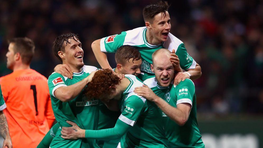 Werder Bremen ist gegen Fortuna Düsseldorf schlussendlich obenauf - Bildquelle: Getty Images