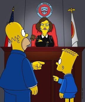 Die Simpsons - Richterin Harm (M.) sieht in diesem Vorfall eine grobe Vernach...