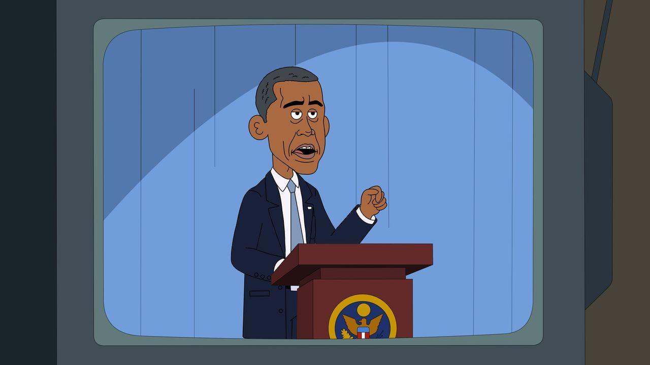 Der Besuch Obamas (Bild) sorgt für unterschiedliche Reaktionen bei den Park-Arbeitern: von der Gründung einer eigenen Krankenversicherung, bis hin z... - Bildquelle: 2014 Twentieth Century Fox Film Corporation and Comedy Partners.  All rights reserved.