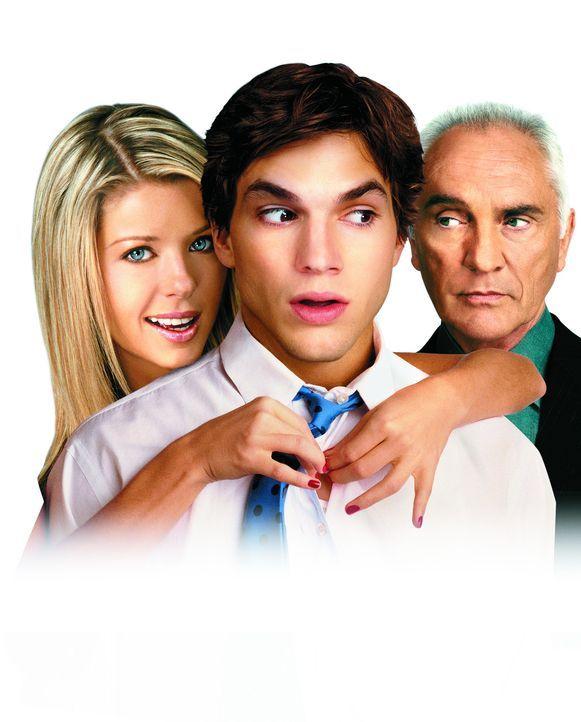 """""""Partyalarm - Finger weg von meiner Tochter"""" mit (v.l.n.r.) Molly Shannon, Ashton Kutcher und Terence Stamp - Bildquelle: Falcom Media"""